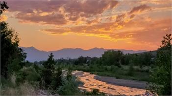 Sunset at Cottonwood Creek Park