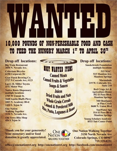 Annual Spring Food Drive: March 1st - April 30th