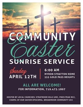 Community Easter Sunrise Service - canceled