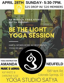 Be the Light: Harp, Spoken Word & Restorative Yoga Practice