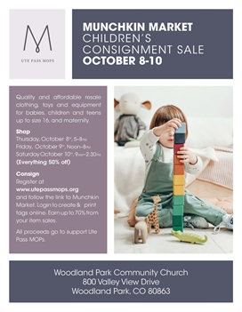 Munchkin Market Consignment Sale Fall 2020