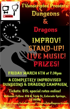 TVunscripted presents Dungeons & Dragons - Music, Comedy, Prizes