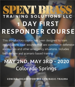 FIRST RESPONDER COURSE - Postponed to August 8th