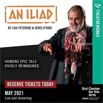 Theatreworks' AN ILIAD; live, in-person theatre