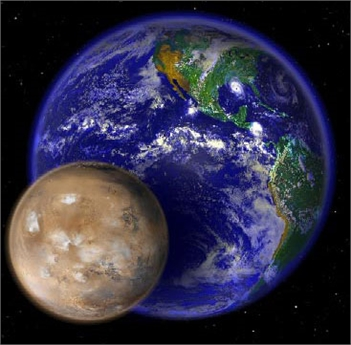 Homeschool Day: Earth and Mars from Space